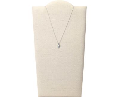 Stylový stříbrný náhrdelník s krystaly JFS00539040 (řetízek, přívěsky)