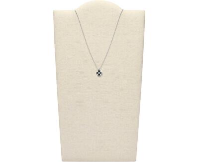Tajemný stříbrný náhrdelník s onyxem JFS00528040 (řetízek, přívěsek)