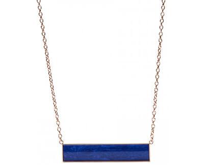 Colier din bronz cu un pandantiv albastru JF02549791