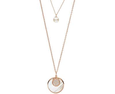 Luxusné dvojitý náhrdelník JF02961791