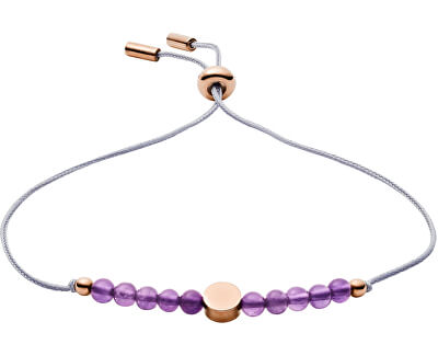 Náramok s fialovými korálkami JF03117791