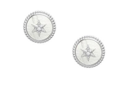 Něžné stříbrné náušnice s perletí JFS00500040