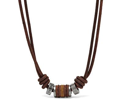 Pánský kožený náhrdelník JF00899797