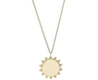 Colier din oțel placat cu aur co soare JF03380710