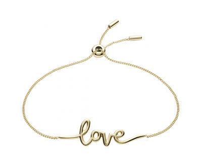 Brățară din oțel placat cu aur Love JF03339710