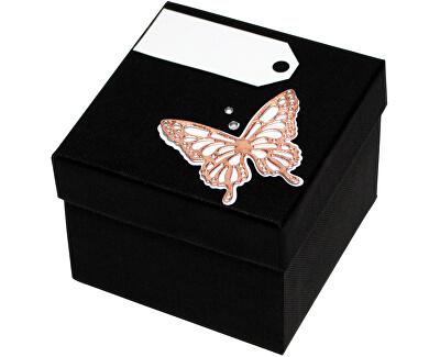 Luxusná darčeková krabička s bronzovým motýlikom