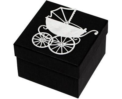 Luxusná darčeková krabička so strieborným kočíkom