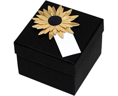 Luxusná darčeková krabička so zlatou slnečnicou