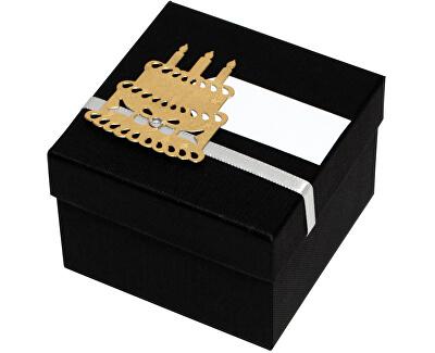 Luxusná darčeková krabička so zlatým tortou
