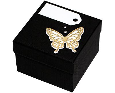 Luxusná darčeková krabička so zlatým motýlikom