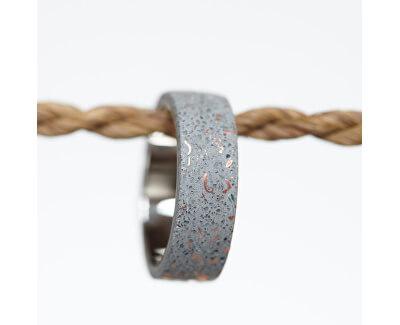Moderní betonový prsten Simple Fragments Edition měděná/šedá GJRUFCG001