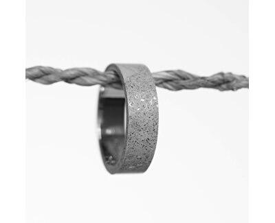 Moderní betonový prsten Simple Fragments Edition ocelová/šedá GJRUFSG001
