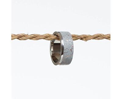 Netradiční betonový prsten Edge Fragments Edition měděná/šedá GJRUFCG002