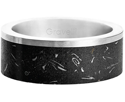 Stylový betonový prsten Edge Fragments Edition ocelová/atracitová GJRUFSA002