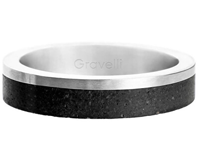 Betonový prsten Edge Slim ocelová/antracitová GJRUSSA0021