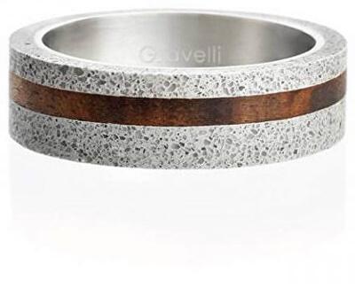 Betonový prsten šedý Simple Wood GJRUWOG001