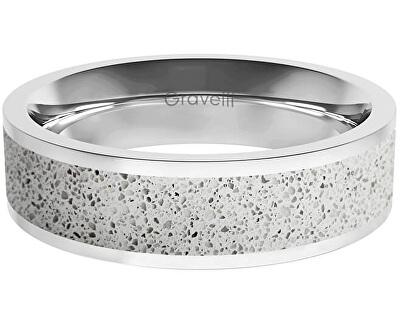 Prsten s betonem Fusion Bold ocelová/šedá GJRWSSG111