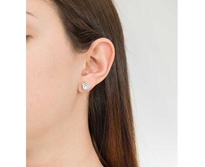 Srdíčkové náušnice s krystaly UBE82083A