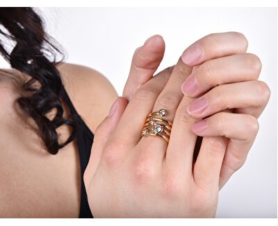Luxusní spirálovitý prsten UBR84056