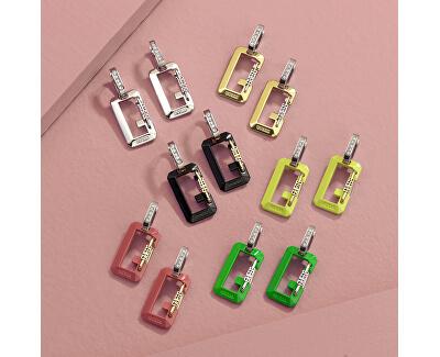 Cercei bicolori din oțel cu pandantiveG Snap UBE70089