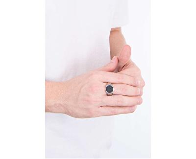 Inel pentru bărbați cu piatră neagră UMR29009
