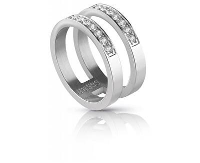 Dvojitý prsten s krystaly UBR78006