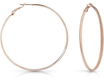 Elegantné bronzové náušnice kruhy UBE28092