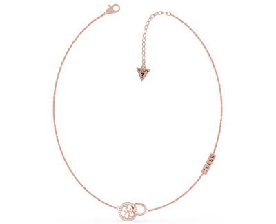 Luxusní rose gold náhrdelník UBN79046