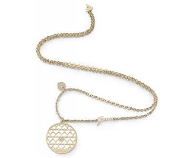 Výrazný pozlátený náhrdelník Jamila UBN85020