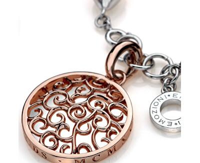 Ocelový náramek Emozioni Rose Gold Ula Bangle DC098