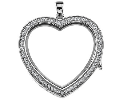 Pandantiv Anais Inimă cu cristale și diamant EX011