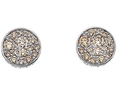 Cercei de argint Hot Diamonds Emozioni Scintilla Champagne DE454