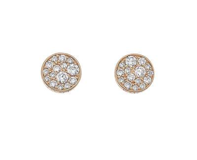 Cercei de argint Hot Diamonds Emozioni Scintilla Rose Gold DE457