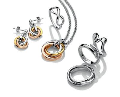 Stříbrné náušnice Trio DE388