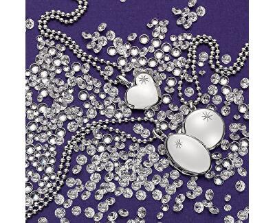 Colier de argint Diamonds Hot DP493 Memoirs Oval Locket(colier,pandantiv)