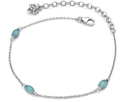 Stříbrný náramek pro narozené v září Anais modrý achát AB009