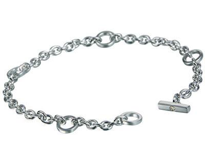 Brățară din argint cu diamant Charm Elegance DL061