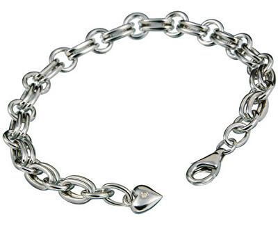 Brățară din argint cu diamant Charm Statement DL071
