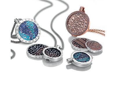 Stříbrný řetízek Emozioni Rhod Plated Bead Chain 30 CH017