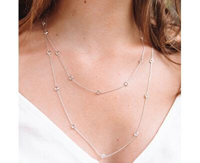 Luxusný strieborný náhrdelník s topaz a pravým diamantom Willow DN131
