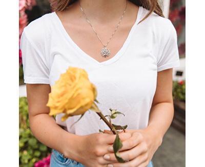 Luxusný strieborný náhrdelník so stromom života Jasmine DP701 (retiazka, prívesok)