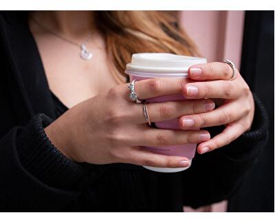 Luxusný strieborný prsteň s pravým diamantom Jasmine DR210