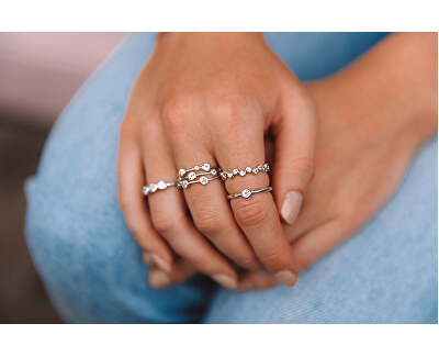 Luxusný strieborný prsteň s topazom a diamantom Willow DR206