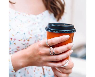 Luxusný strieborný prsteň s topaz a diamantom Willow DR205