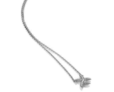 Strieborný náhrdelník s pravým diamantom Daisy DN134