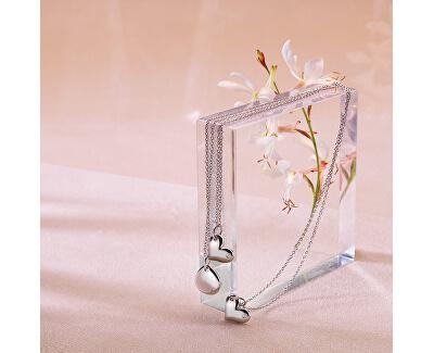 Strieborný náhrdelník s pravým diamantom Iris DP702 (retiazka, prívesok)