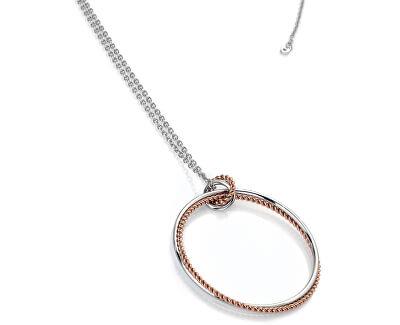 Strieborný náhrdelník s pravým diamantom Jasmine RG DP740