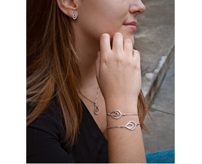 Strieborný náhrdelník s pravým diamantom Lily DP734