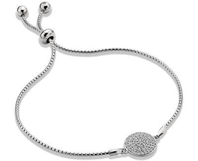 Strieborný náramok s pravým diamantom Flora DL578