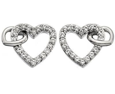 Trblietavé náušnice s pravým diamantom Flora DE605